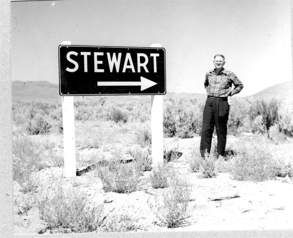 Author George R. Stewart in one of his favorite places, Nevada