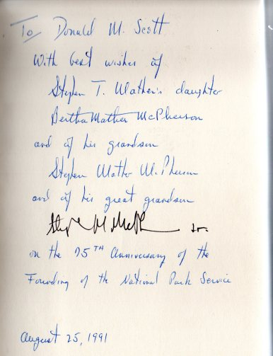 Book dedication Mathers