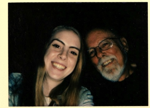 Gramps and Megan polaroid